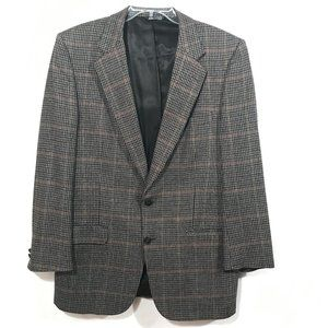 BURBERRYS Gray Plaid Jacket Blazer Sport Coat 42R